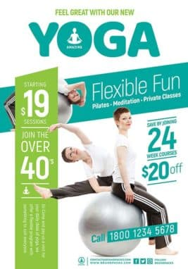 Free Yoga Flyer and Poster Template