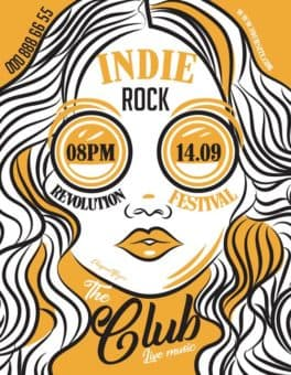 Indie Rock Band Free Flyer Templates