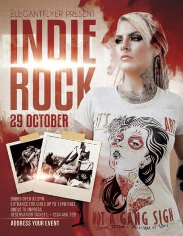 Indie Rock Free Flyer Templates