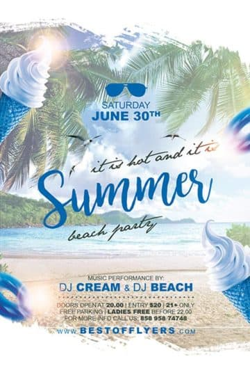 Summer Party Free Poster Template