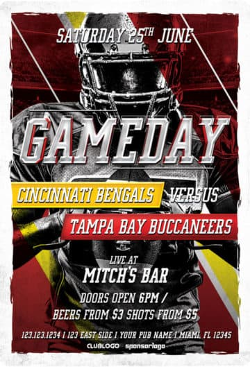 Football Game Day Free Flyer Template