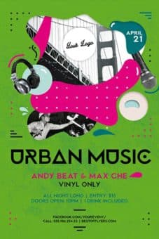 Urban Music Party Free Flyer Template