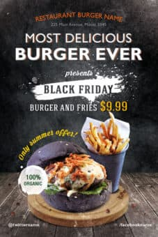 Download the Burger Day Restaurant Free Flyer Template for Fast Food