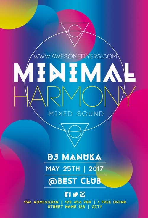 Freepsdflyer  Download Minimal Harmony Free Flyer Template For