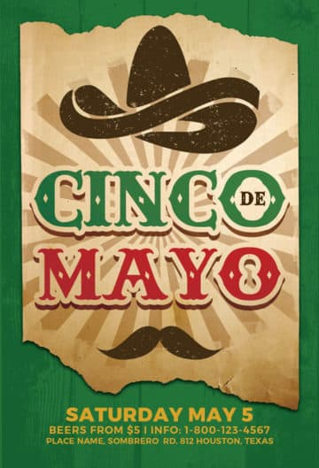 Cinco De Mayo Free Flyer Template