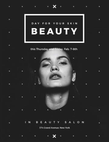 Your Skin Beauty Free Flyer and Poster Template