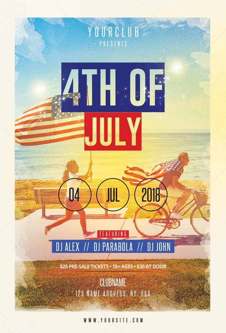 4th of July Free Flyer Template