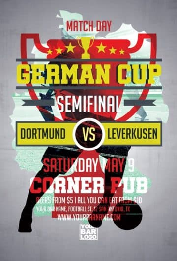Euro Soccer Cup Free Flyer Template