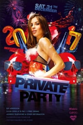 Private Party Free Flyer Template