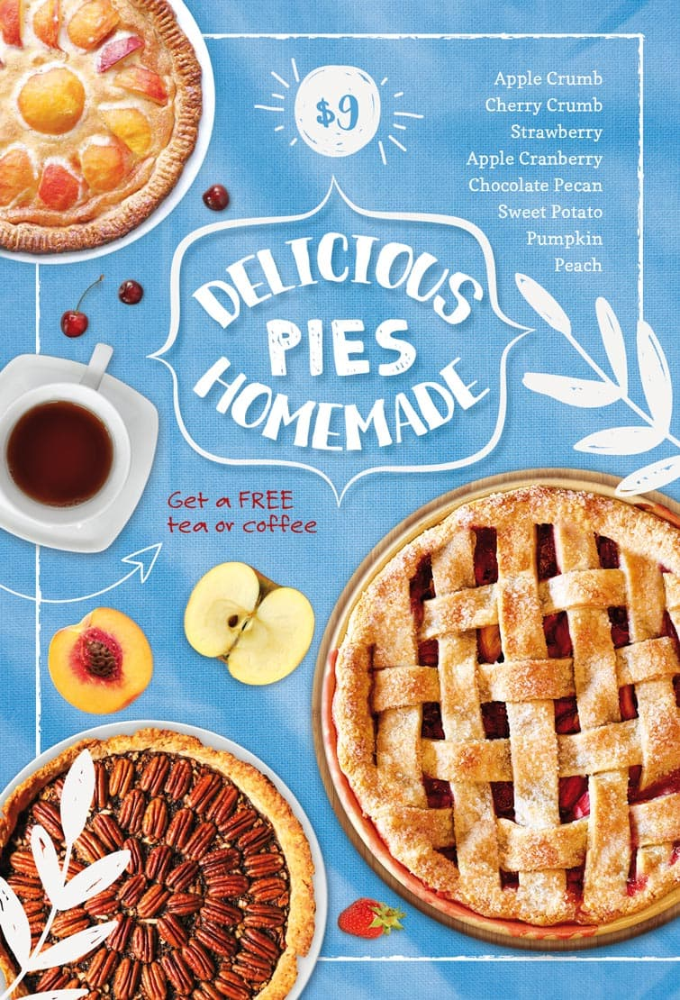 freepsdflyer download the delicious homemade pie free flyer