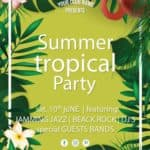 Summer Tropical Party Free Flyer Template