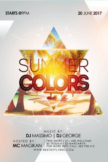 Summer Flyer Template | Download Easy To Use Free Summer Flyer Templates For Photoshop