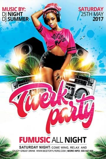 Summer Party Free Flyer and Poster Template