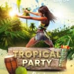 Tropical Party Free PSD Flyer Template