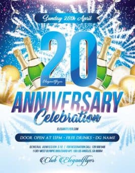 Anniversary Night Party Free PSD Flyer Template