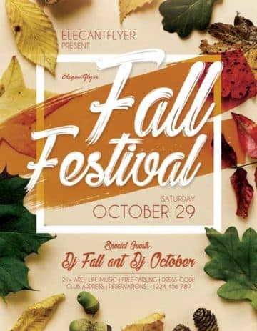 Fall Festival Free PSD Flyer Template
