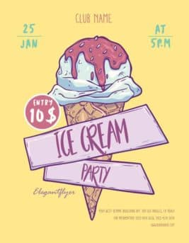 Ice Cream Free PSD Flyer Template