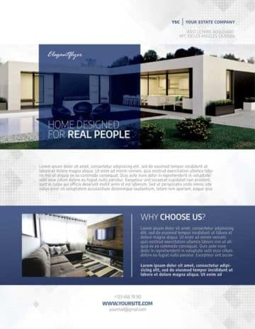 Real Estate Free Flyer PSD Template