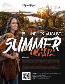 Summer Camp Free Flyer Template