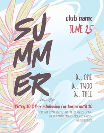 Summer Party Event Free PSD Flyer Template