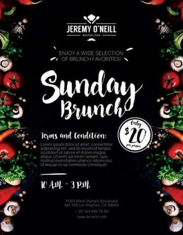 Sunday Brunch Free Flyer PSD Template