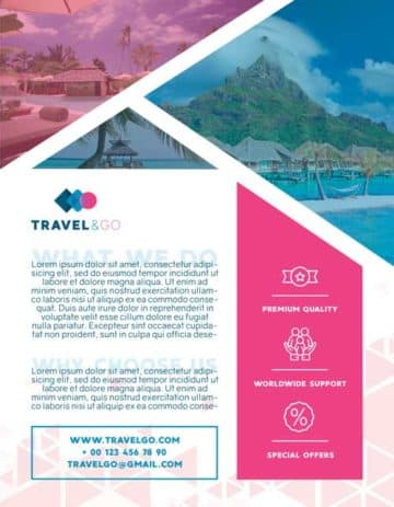 Travel Agency Free Flyer PSD Template