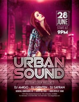 Urban Sound Party Free PSD Flyer Template