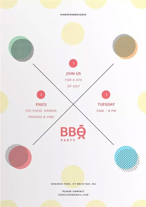 BBQ Party Celebration Free Flyer and Poster Template