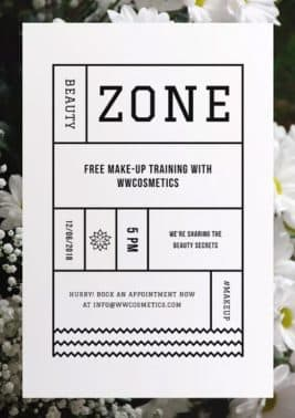 Beauty Zone Free Flyer and Poster Template