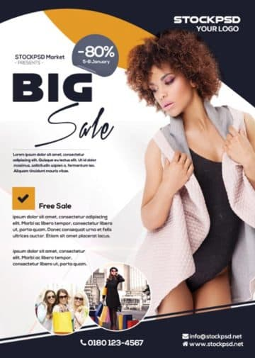 Big Sale Free Flyer Template for Shops, Stores and eCommerce Purpose