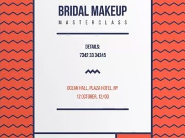Bridal Makeup Flyer and Poster Template