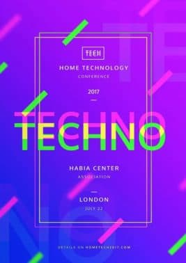 Home Technology Conference Free Flyer and Poster Template