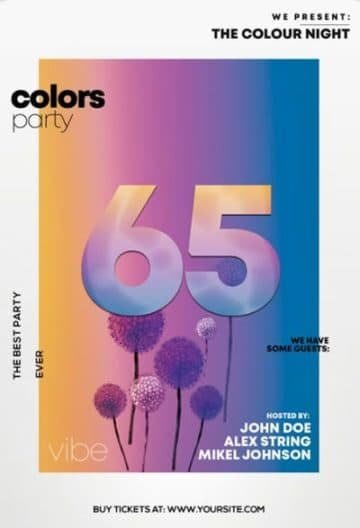 Color Party Free Flyer Template