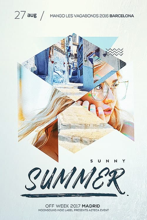 Summer DJ Party Free Flyer Template