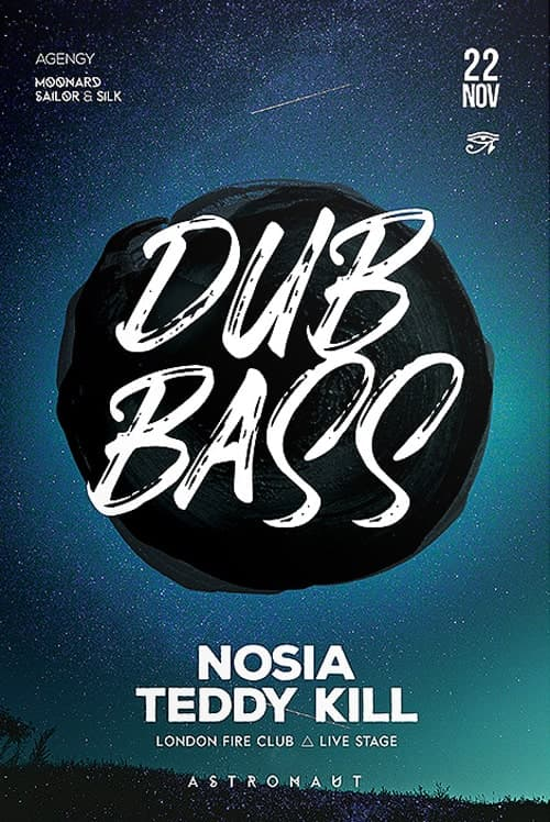 Drum & Bass Free Flyer Template