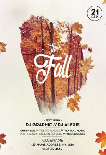 Fall Festival Autumn Party Free Flyer Template for Autmn and Fall Parties