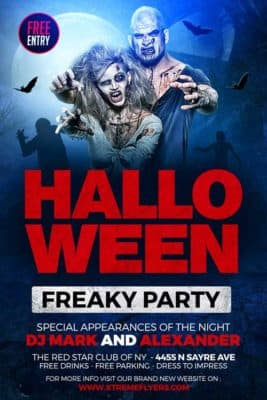 FreePSDFlyer | Download Free Halloween Flyer PSD Templates for ...