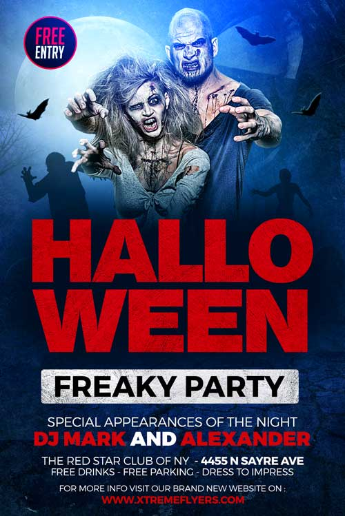 Free Halloween Party Event Flyer Template