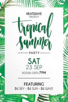 Green Summer Free Flyer Template