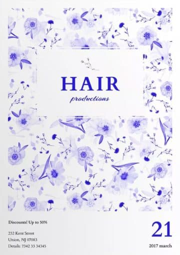Hair Productions Flyer and Poster Template