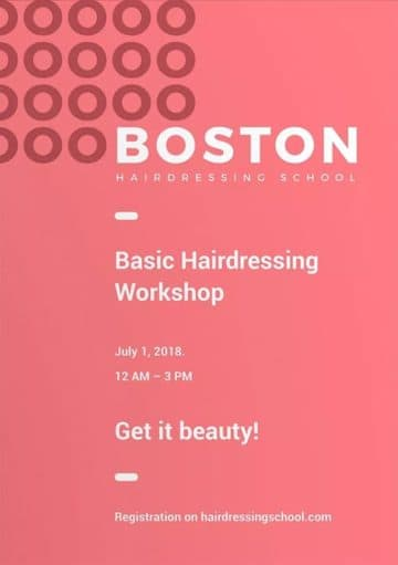 Hairdressing Workshops Flyer and Poster Template