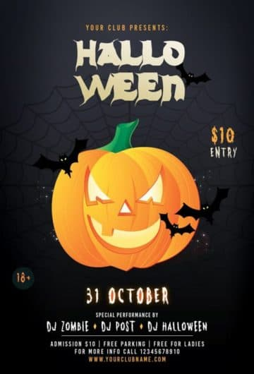 Halloween Pumpkin Party Free Flyer Template