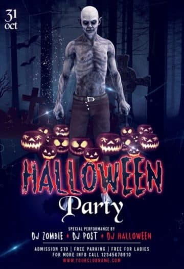 Halloween Party Event Free Flyer Template