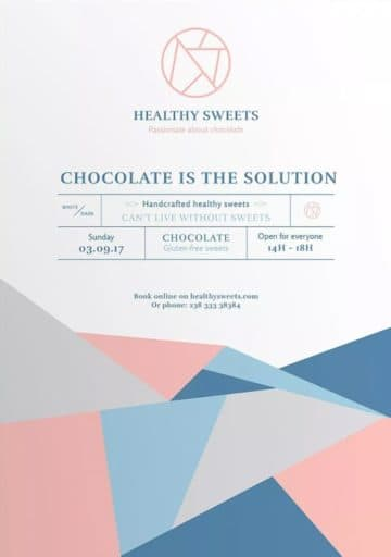 Handcrafted Healthy Sweets Free Flyer and Poster Template