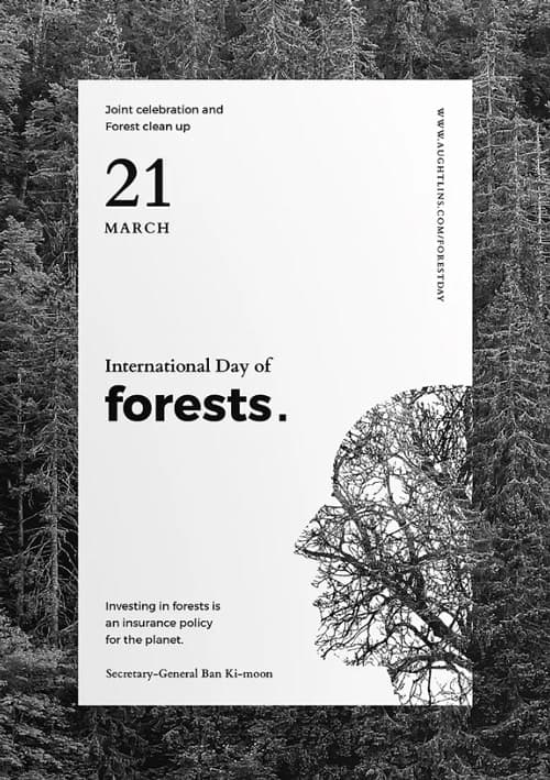 Forests Day Charity Flyer and Poster Template