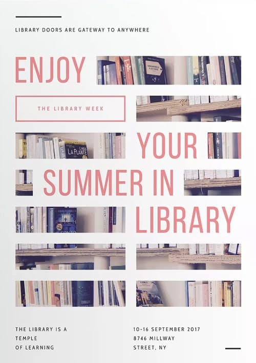 Library Week Free Flyer and Poster Template