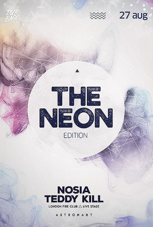 Neon Light Party Free Flyer Template