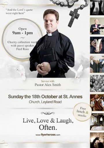 Live Love Laugh Free Church Flyer Template