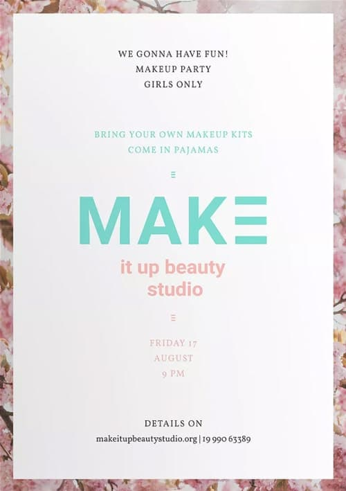 Makeup Beauty Studio Flyer and Poster Template