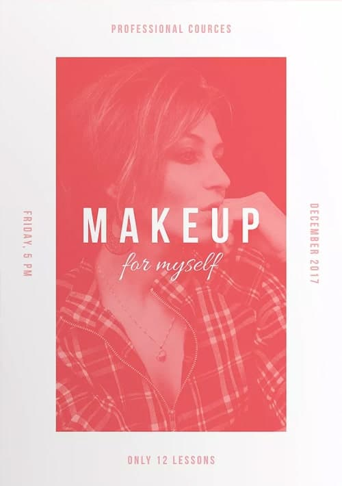 Makeup Courses Free Flyer And Poster Template For Beauty Salons
